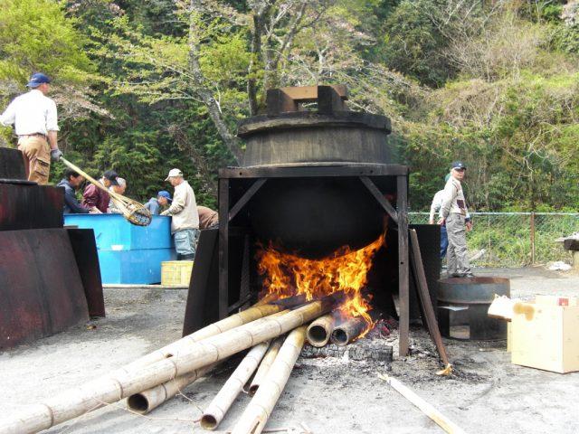 大釜茹で筍は必見!「善光寺とたけのこ祭り」