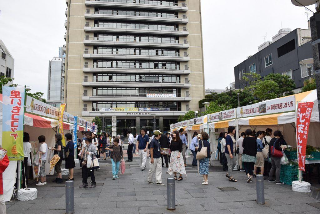 雨でも大にぎわい!『駿河区旬穫祭in葵スクエア』の画像